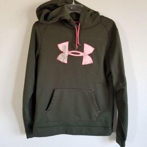 Under Armour M Army Green Hoodie Sweatshirt